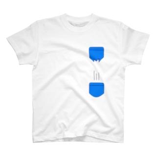 穴あきポケット サブポケット Tee T-shirts