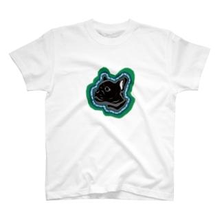 ShuShopのFrench bulldog freak  T-shirts