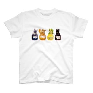 ジャム猫・勢揃い T-shirts
