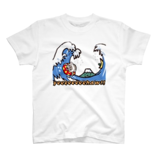 sasabayashi8のイーハー!!波乗りフェレット T-shirts