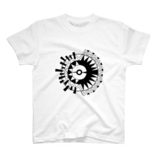 ソニカ_輝く鳥の文様 T-shirts