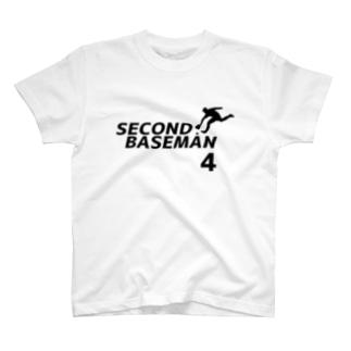 セカンドベースマン(背番号4) T-shirts