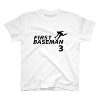 ファーストベースマン(背番号3) T-shirts