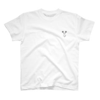 チア Cジャンプ モノクロ T-shirts