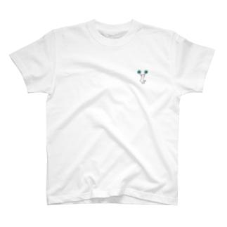チアCジャンプ 水色 T-shirts