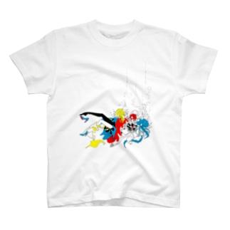 ガスマスクラゲ2 T-shirts