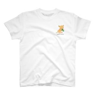 Kangaroo & knitting ワンポイント T-shirts