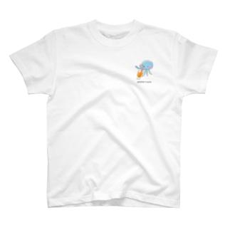 Jellyfish & juice ワンポイント T-shirts