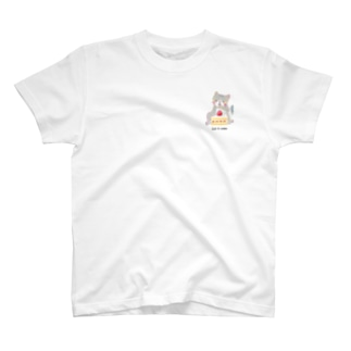 Cat & cake ワンポイント T-shirts