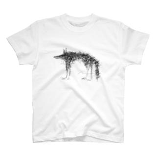 flower wolf T-shirts
