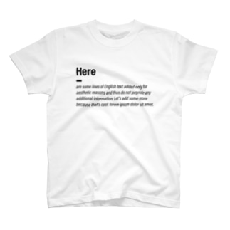 Some cool text T-shirts