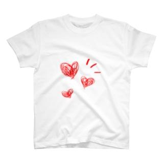 3連ハート T-shirts
