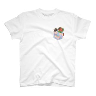 ポケットインコ T-shirts