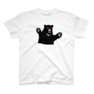 クマが出たTシャツ T-shirts