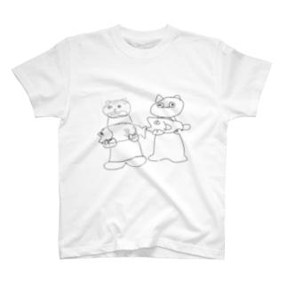 か、カワウソ T-shirts