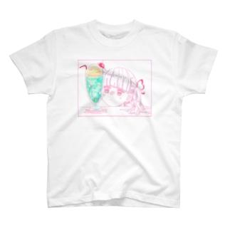 メロンソーダと女の子 T-shirts