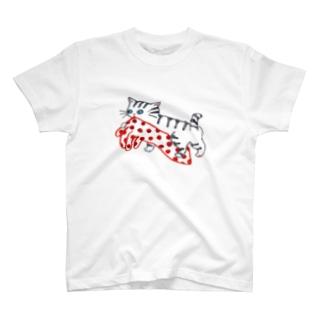 水玉手袋とねこ T-shirts