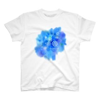 サカサクラゲと海の花 T-shirts