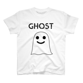 GHOST IN THE SHEET (Black Line) T-shirts
