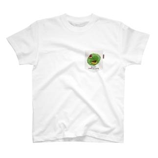 のらしおんフェイク(偽)ポケットTシャツ チーズケーキ T-shirts