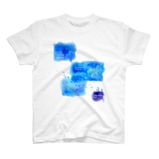 ウリクラゲとマンボウとチンアナゴの四角い海 T-shirts