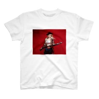 ドール写真:ライフル銃を持つブロンドの狩人 Doll picture: Blonde hunter with type38 rifle gun T-shirts