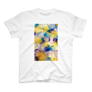 水彩画フラワー T-shirts