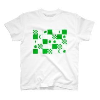 チェッカー T-shirts