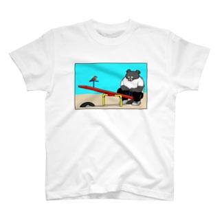 ツキノワグマ in the park T-shirts