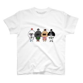 キノコブヒ 集合 T-shirts