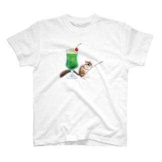 「クリームソーダはいかが?」-シマリスより- T-shirts