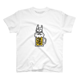 ネコサンの今日のごほうび/カラー T-shirts
