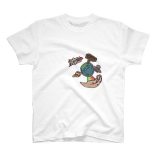 Reiyu  Ebiharaの世界はあなたの手の中に。~ The world is in your hands~ T-shirts