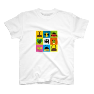昆虫のシルエット T-shirts