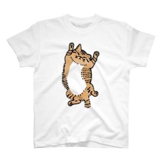 ごろごろする猫 T-shirts