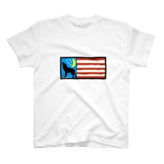 SILVERWOLFMEN星条旗 T-shirts