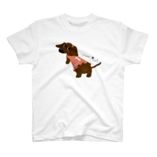 Wanna Play?【Sソリッドチョコ/GIRL】 T-shirts