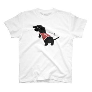 Wanna Play?【Sソリッドブラック/BOY】 T-shirts
