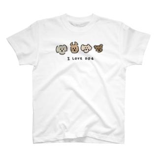 犬が好きな人のグッズ T-shirts