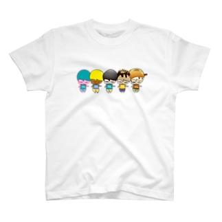 たべちゃん5人衆 T-shirts