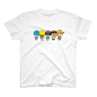 関根フーズ/sekinefoodsのたべちゃん5人衆 T-shirts