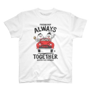 ビーンズマンとレトロ車 T-shirts