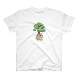 根っこ猫 (文字無し) T-shirts