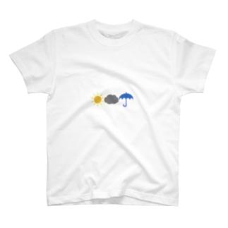 今日の天気は? T-shirts