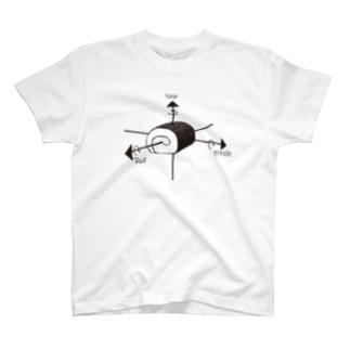 3次元ベクトルのロールケーキ T-shirts