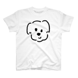 白黒の大きな犬くん T-shirts