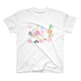 虹色のばら T-shirts