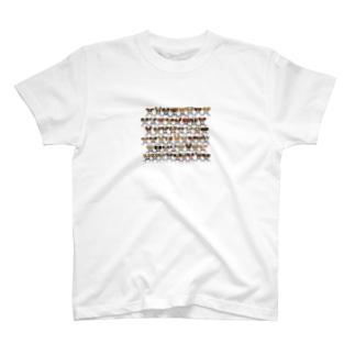 ジャックラッセルテリアのトトwithフレンズ T-shirts