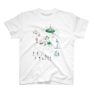 totsunetのVisionary Work T-shirts