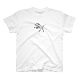 タレ目ディノ しゃくれ T-shirts